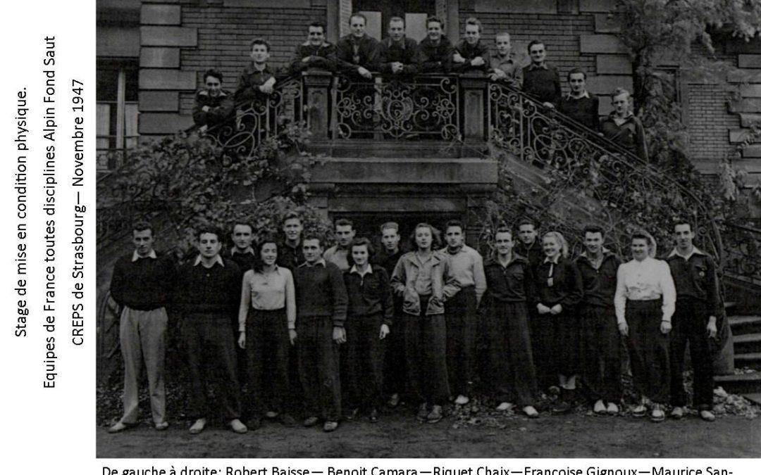 Les Equipes de France Alpin Fond et Saut en 1947